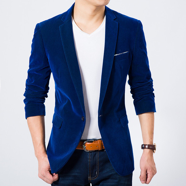 Spring and autumn period and the kind of casual jackets big yards small suit male youth cultivate one's morality corduroy jacket