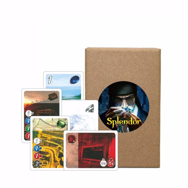 2019 new Splendor Board Game full English version carton box Investment & Financing Family playing cards game
