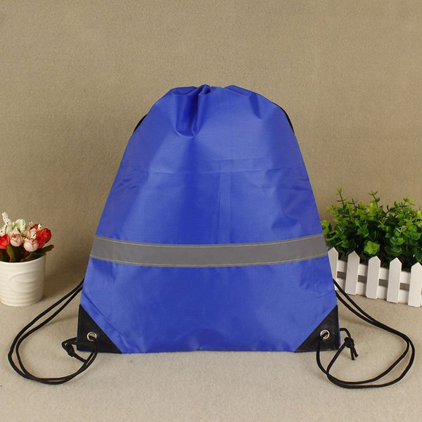 10 pcs camping drawstring bags school reflective strap gym pouch students large capacity walking sport storage outdoor gift - from $35.36