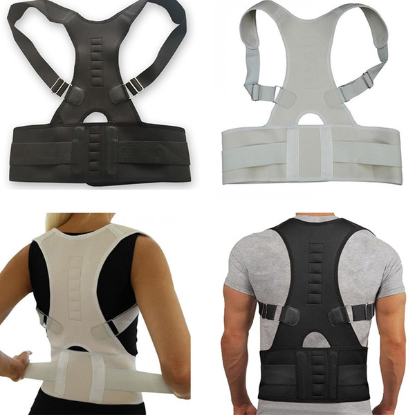 Adult Back Pain Relive Corset Shoulder Lumbar Posture Corrector Bandage Magnetic Therapy Spine Support Belt Back Support #530677