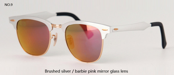 brushed silver w barbie pink