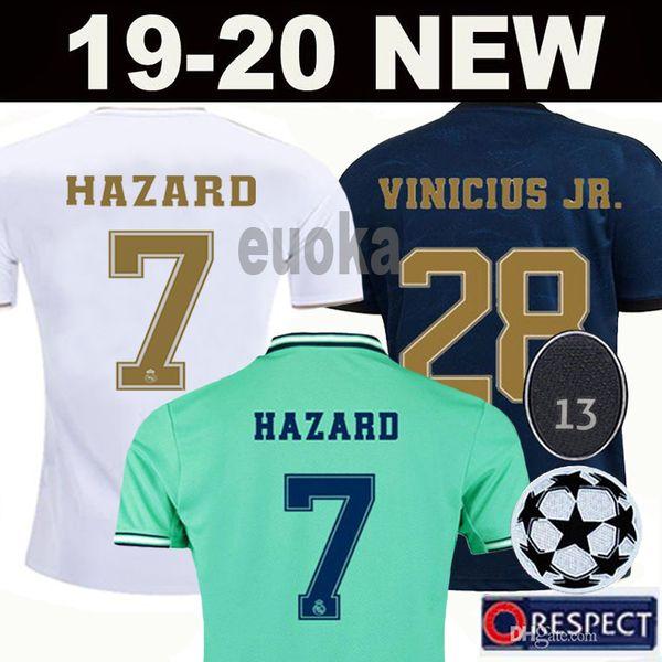 soccer jerseys Real Madrid 19 20 HAZARD JOVIC MODRIC camiseta de fútbol 2019 2020 VINICIUS ASENSIO football shirt kids camisa de futebol
