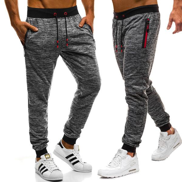 top popular Brand Men Pants Hip Hop Harem Joggers Pants 2019 Male Trousers Mens Joggers Pants Sweatpants mens joggers 2020
