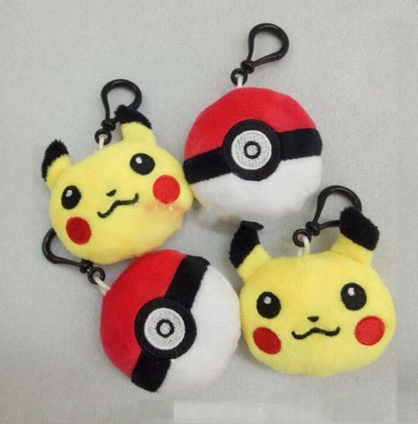 Pikachu Elf Ball Felpa Llaveros Juego de Acción de dibujos animados keych School Bag Colgante Llavero Teléfono Celular Relleno Llavero Juguetes Regalos