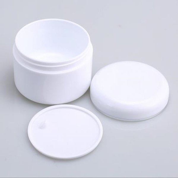100g Round White Cream Jar With Inner Lid With Silver Line On Cap,Round  Shape Cream Jar, Cosmetic Packaging Moving Box Kits Moving Cardboard Boxes