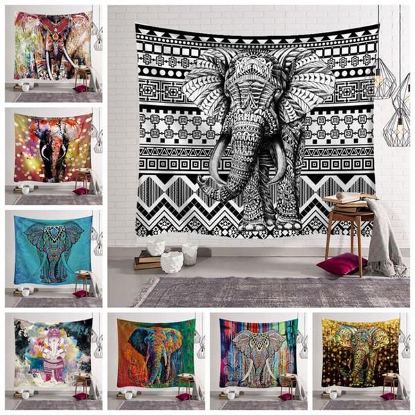 12 Styles Mandala Bohème Tapisserie Serviette De Plage Éléphant Imprimé Tapis De Yoga Polyester Serviette De Bain Décoration de La Maison En Plein Air Pads CCA11528 30pcs