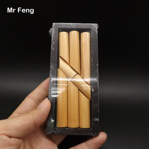 Eight Block Stick Magic Box Wooden Funny Game Immortal Cross The Sea Baby Gift Kid Toy ( Model Number B086 )