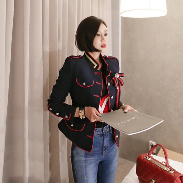 Neue Ankunft Art und Weise Frauen dicke warmes Arbeitsstil Trend Mantel OL bequem im Freien Temperament Herbst Winter outwear frische Jacke Y190921