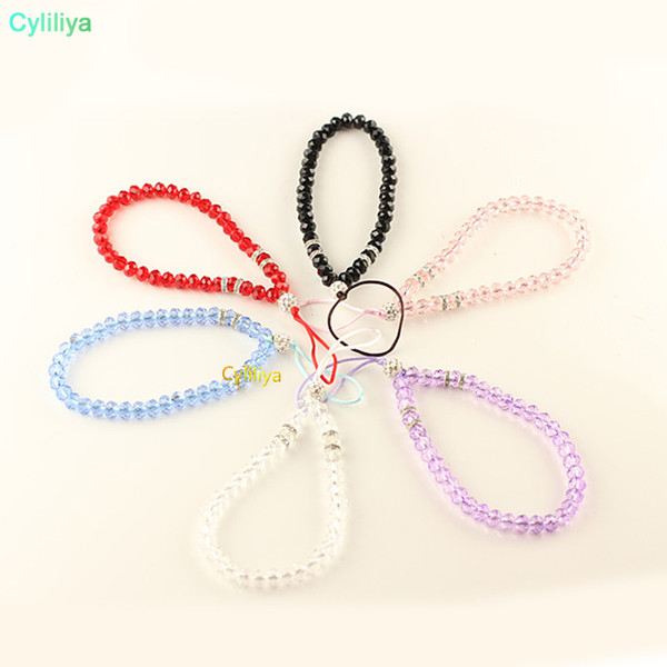 Fashion Crystal Cell Phone Hang Lanyard Artificial Mobile Phone Crystal Hang Chain Luxury Phone Charms Rope Universal Handmade