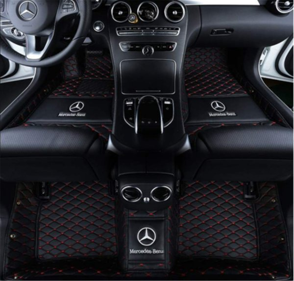 Custom Car Floor Mats Fit for Mercedes Benz CLA Class 180 200 220 250 260 2014-2019 Full Coverage All Weather Protection Waterproof Non-Slip