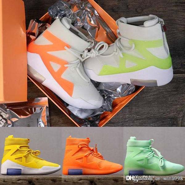 Top Quality Airs New Design Fear of God 1 Mens Basketball Shoes FOG Boots Orange Green Black Sports Zoom Sneakers