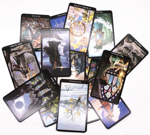 HOT Newtoy999 와일드 알 수없는 타로 카드 신비한 동물 토템 타로 카드 안내 보드 게임 타로 갑판 보드 게임 카드 78Pcs / setM1033