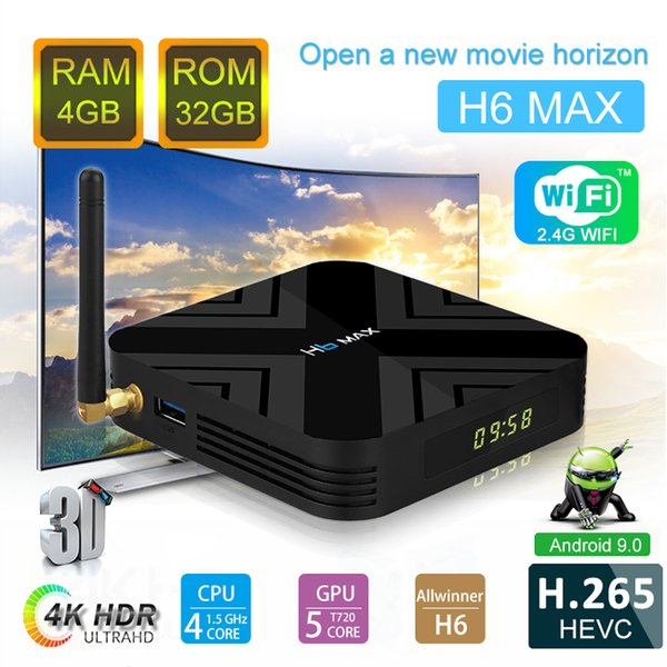 H6 Max Android 9 0 Tv Box Allwinner H6 Quad Core 4GB 32G With LED Display  Smart Set Top Box Tv Box Android Internet Tv Box From Yutuoxing, $33 87|