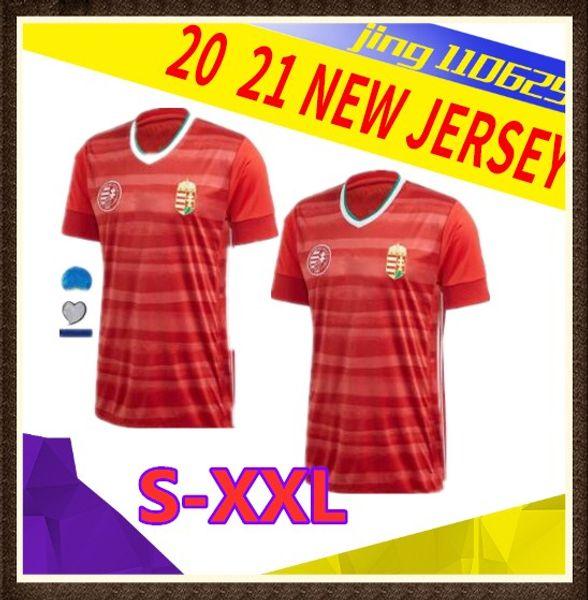2020 2021 maison de maillot de football rouge Hongrie 20 21 équipe nationale Dominik Szoboszlai Willi Orban Tamás chemises uniformes Kádár de football haut thaïlande