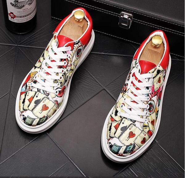 Yeni Sezon Tasarımcı Ayakkabı Moda Erkek Erkek Deri Lace Up Platformu Boy Sole Sneakers Siyah Beyaz Günlük Ayakkabılar Ayakkabılar