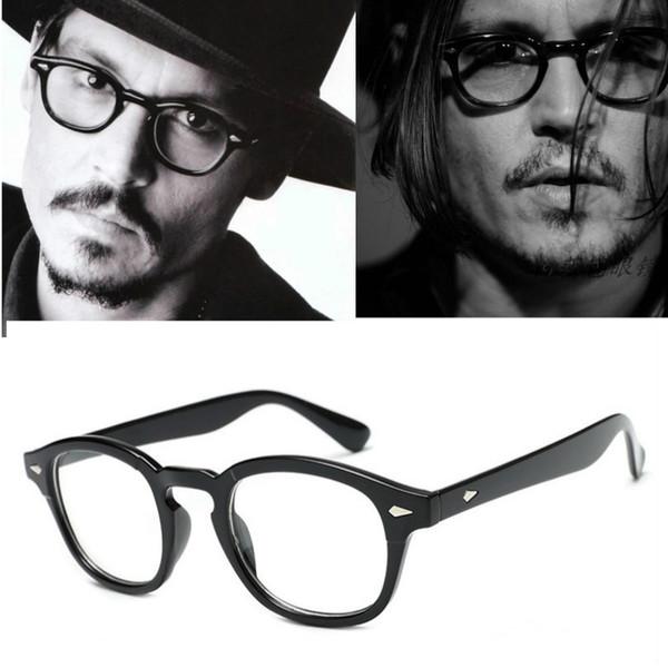 Johnny Depp Glasses Frame Men Retro Vintage Brand Prescription eyeglasses Women Optical Spectacle glass Frame Clear lens glasses