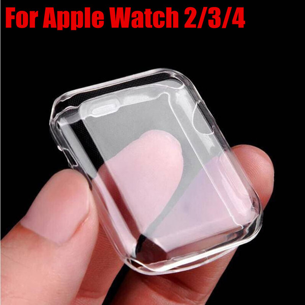 For iwatch 4 40mm 44mm Ultra Clear Soft TPU Cover For Apple Watch 2/3/4 Cases Bumper Frame 38mm 42mm