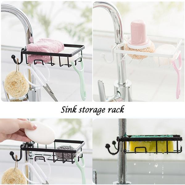 2019 NEW Kitchen Sink Sponge Holder Bathroom Hanging Strainer Organizer  Storage Rack From Raoying8888, $6.22 | DHgate.Com