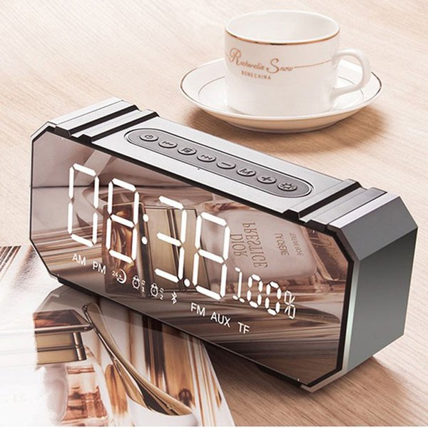top selling Mini 10W Bluetooth Wireless Speaker with LED Clock, Lightweight, Big Sound, Bass and Large Dimmable Display