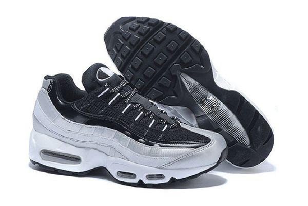 Compre Clásico Nike Air Max 95 Tripel Blanco Negro Hombres Mujeres Zapatos Casuales 95 Cushion M95 95s Botas Zapatos Casuales Tamaño 36 46 A $48.11