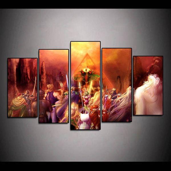 (Seulement Canvas No Frame) 5 Pcs Final Fantasy Vi Kefka Mur Art HD Imprimer Toile Peinture De Mode Suspendre Photos