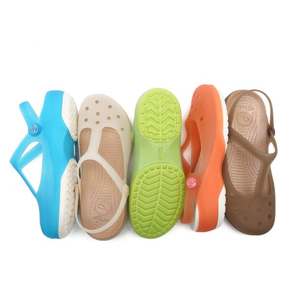 2019 Summer Women Mules Clogs Beach Breathable Janes Sweet Slippers Woman's Sandals Jelly Shoes Cute Garden Shoes Clog for Woman B1