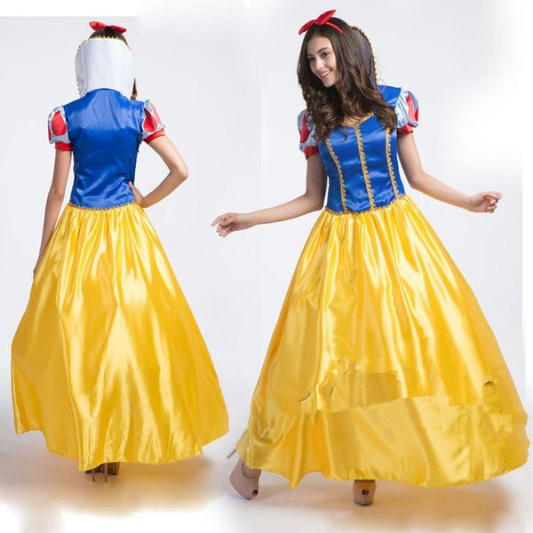 2019 Sale Royal Blue And Yellow Satin Dresses For Cosplay Party Short Sleeves Plus Size Custom Made Formal Evening Occasion Dancerwear Cheap