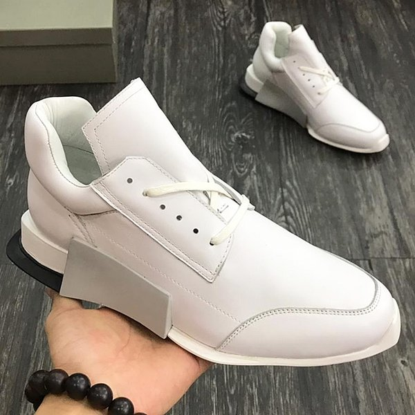2018 American luxury brand trend men's sports shoes with exquisite outsole leather strap design high-grade outdoor casual running qw
