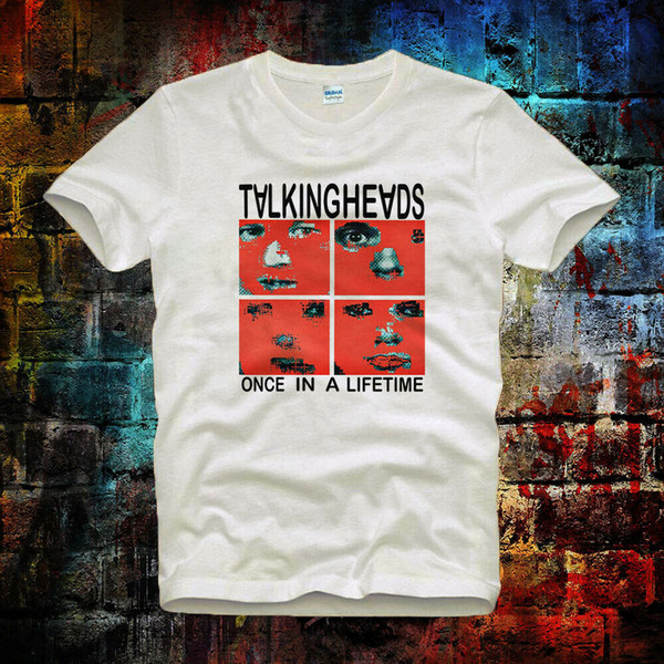 Talking Heads One In A Life Time Maglietta punk rock vintage hipster unisex 382b s t shirt estiva o collo 100% cotone