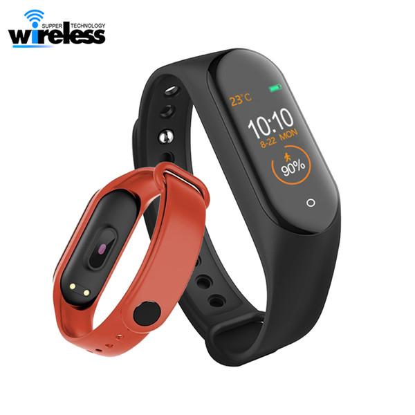 M4 Smart Bracelet Sport Fitness Tracker Intelligent Watch Heart Rate Monitor Calories Waterproof IP67 Smart Band Fashion Watch for i5/6/7/8