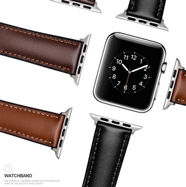 PU Leder Uhrenarmbänder für Apple Watch Armbänder Gürtel Handgelenkbänder Echtes Leder Uhrenarmbänder für iWatch Serie 1234 Größe 38 / 40mm 42 / 44mm