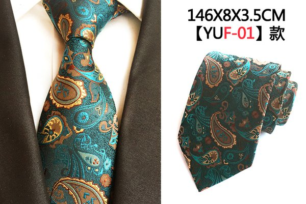 New hand-made bright tie suit pocket scarf suit embroidered polyester silk jacquard material fashionable stripe suit