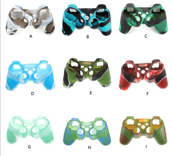 top popular Camouflage Silicone Skin Case Protective Cover for SONY Playstation 3 PS3 Controller High Quality 9 Colors 2020