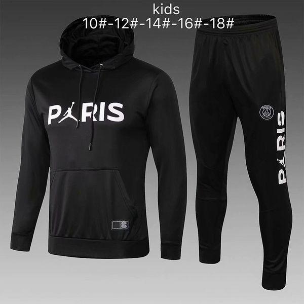 Survêtement PSG nouveau 2018 2019 KIDS soccer training 18 18 MBAPPE CAVANI maillot de foot Paris à capuche enfant Sportswear