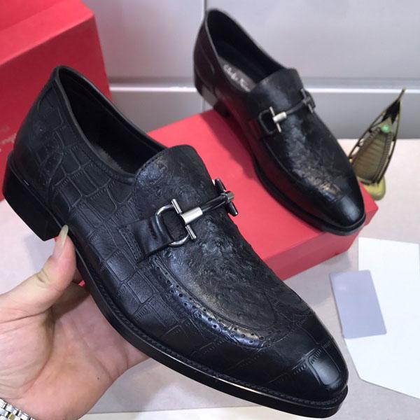 chaussures de sport de créateurs de mode hommes robe noire veste en cuir peinture pic mariage chaussures plates chaussures de taille du parti d'affaires 38-45