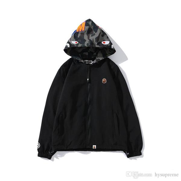 Осень Зима подростковая Black Hat Camo Polyester куртка ветровка Lover моды Кардиган Hip Hop куртки Размеры M-2XL