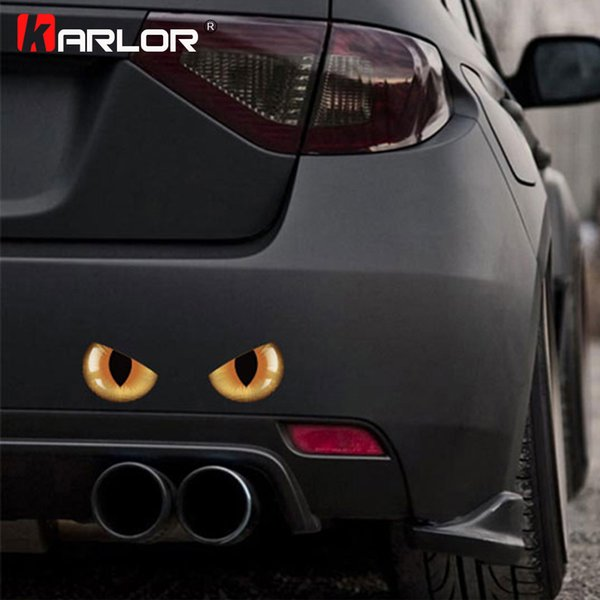 vinyl Cute 3D Stereo Cat Eyes Stickers Decal Vinyl for Rearview Mirror Car Cover Windshield Bumper Door Side Motorcycle Decoration