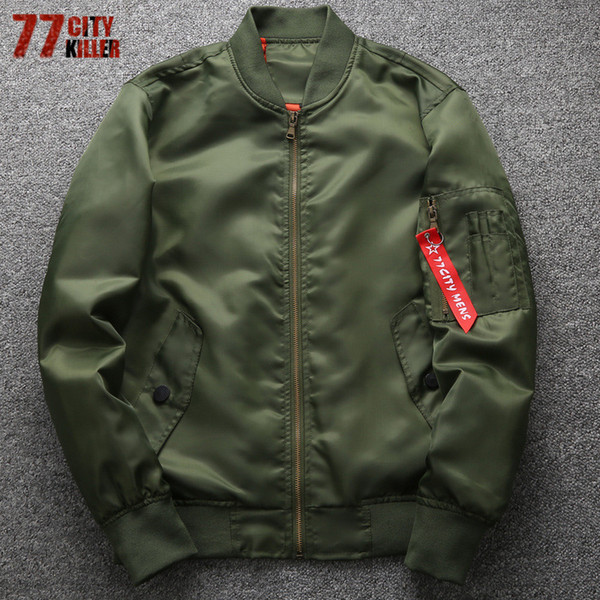 77city Killer Military Motorcycle Ma-1 Bomber Men Plus Size 6xl Male Casual Air Force Flight Jacket Jaqueta Masculina C19041001