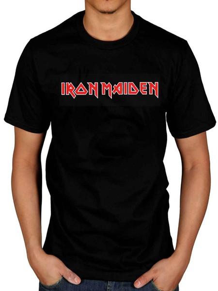 Camiseta oficial con el logotipo de Iron Maiden Classic Rock Heavy Metal Band Merchandise