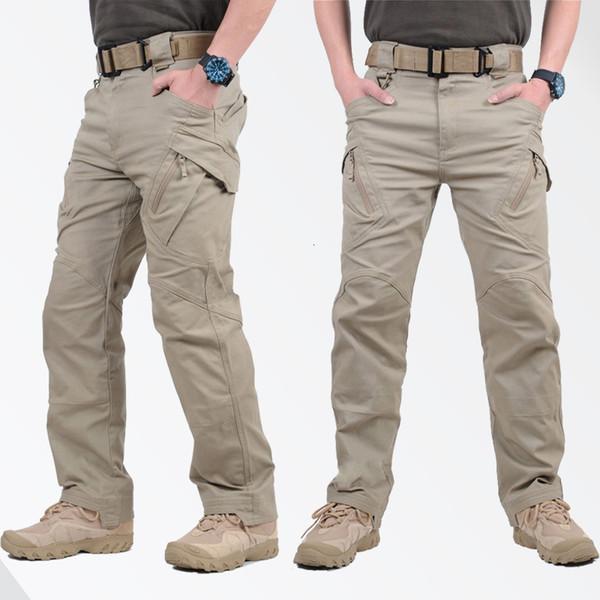 Gejian IX9 Ville tactique militaire SWAT combat l'armée pantalones Casual Hikling hombre Cargo Pants Men CJ191201