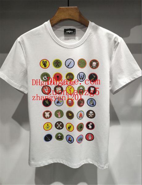 2019 Marca homens roupas moda impressão verão mens off clássico t camisas de algodão branco Mens T camisas verão polo camisas Plus size hoodie qp-4