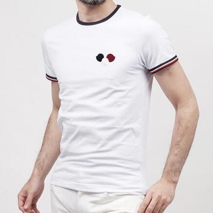 Yeni Moda Marka LOGO baskılı% 100% Pamuklu Tişört Slim Fit Giyim Hip Hop Erkekler gömlek Kısa Kollu Lüks Yüksek Kalite T-shirt
