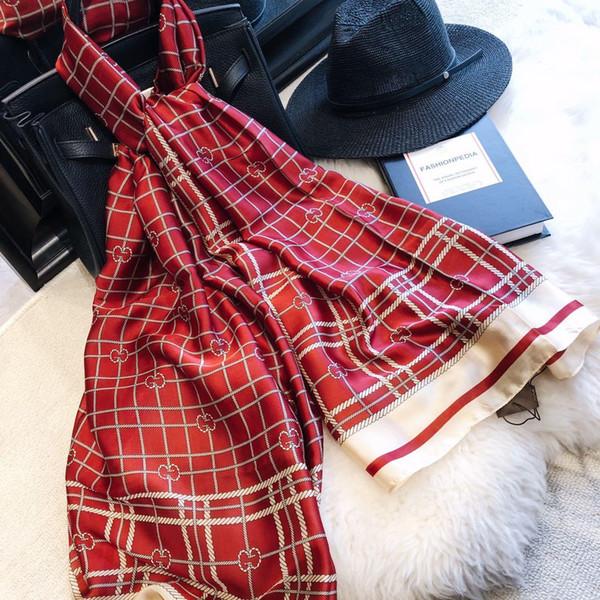 top Designer brand Silk scarf for Women high-end Brand Long Scarves Shawls gift