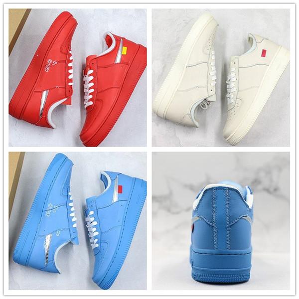 Forzar 2019 zapatos del patín para el MCA Serena Solamente los zapatos de baloncesto Diseñador Virgilio 2019 Azul Rojo Blanco Plata Parche para hombre de la Mujer