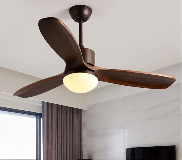 New Ceiling Fan For Living Room Ventilador de techo Ceiling fans with Lights 48 Inch Modern Cooling Fan Fixtures LLFA