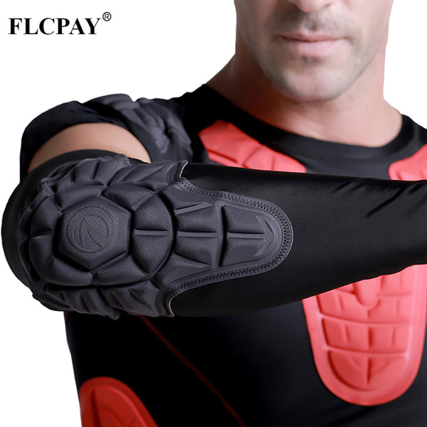 1PCS Honeycomb Elbow Pads Crashproof Arm Sleeves Basketball Football Volleyball Protector Padded Support Elbow Brace Shin Guards