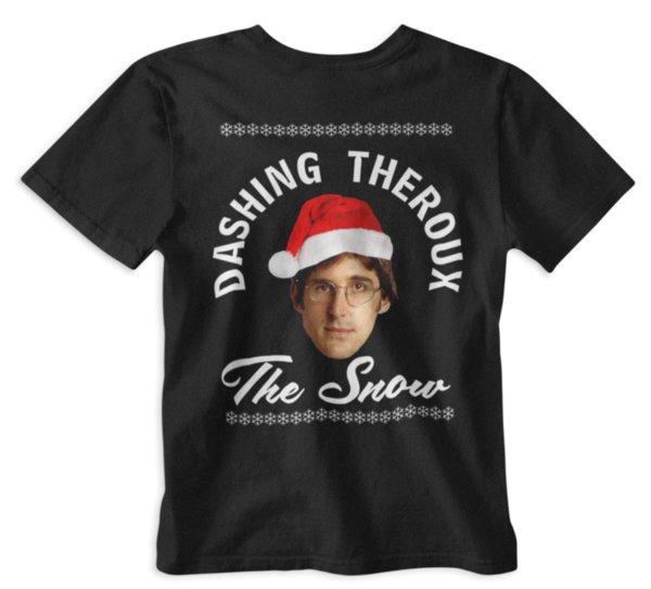 Atılgan Theroux Kar T-Shirt Louis Xmas Noel Tee gizli santa hediye 2 komik% 100% Pamuklu t gömlek