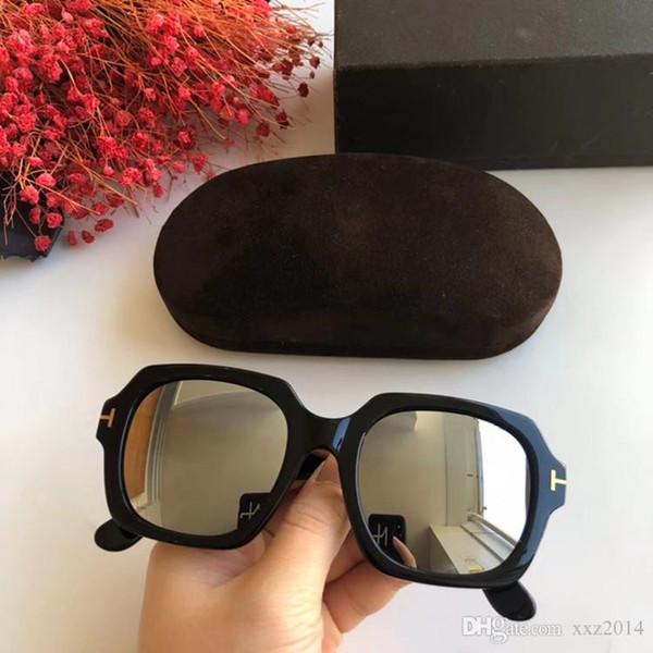 NEWEST Retro-vintage TF660 Unisex Big-rim sunglasses UV400 imported plank fashion rim 53-21-140 fullset packing