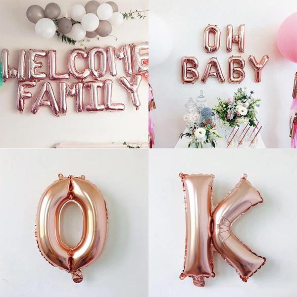 Большие воздушные шары в форме буквы Повседневные украшения для вечеринки Мода Н
