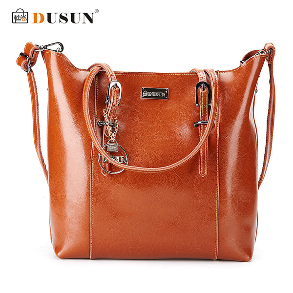 good quality Genuine Leather Handbags Famous Brand Women Bags Fashion Casual Handbags High Capacity Shouder Bags Vintage Women Bag